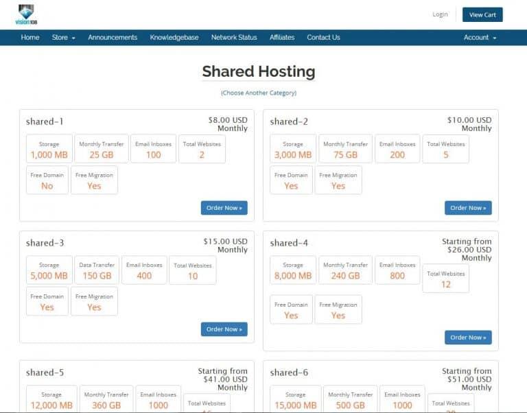Vision101.com Web Hosting Review