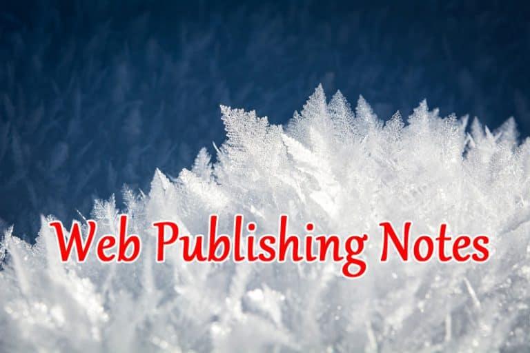 Web Publishing Notes (February 2019 Roundup)